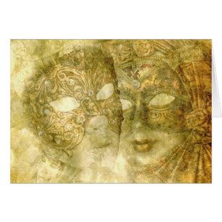 Cartão Venetian das máscaras