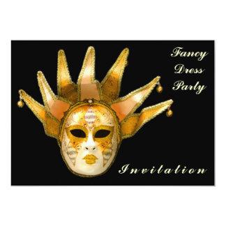 Cartão Venetian do convite da máscara do carnaval