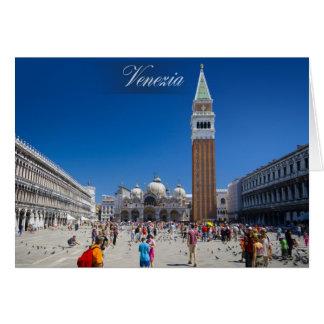 Cartão Veneza - o quadrado de marca de santo