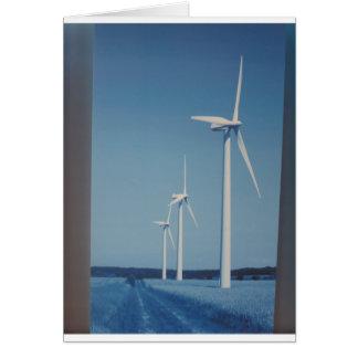 Cartão Vento da energia LIMPA, presentes limpos nucleares
