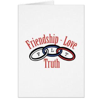 Cartão Verdade do amor da amizade