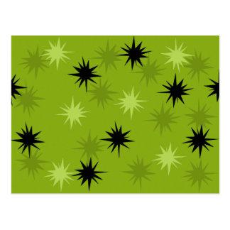 Cartão verde atômico de Starbursts