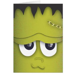 Cartão verde bonito assustador do Dia das Bruxas