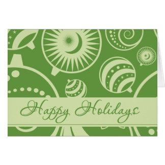 Cartão verde bonito do feriado