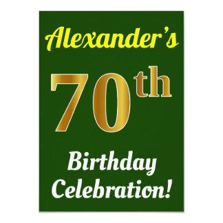 Cartão Verde, celebração do aniversário do 70 do ouro do