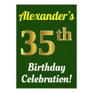 Cartão Verde, celebração do aniversário do ouro do falso