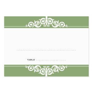 Cartão verde da escolta do convidado do casamento cartão de visita grande
