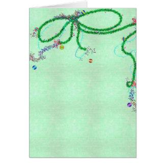 Cartão verde da festão do arco