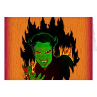 Cartão verde do diabo