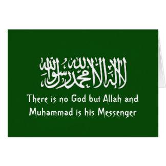 Cartão verde islâmico de Shahada
