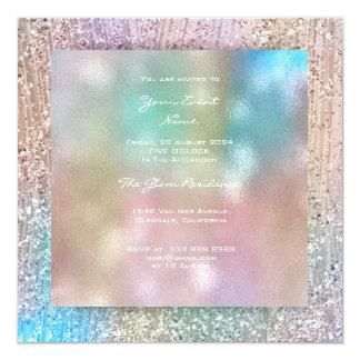 Cartão verde Pastel cor-de-rosa azul 3-D dos cristais de