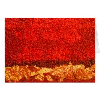 Cartão Vermelho abstrato horizontal e ouro do cumprimento