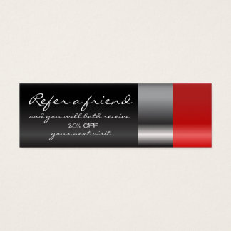 Cartão vermelho da referência do batom