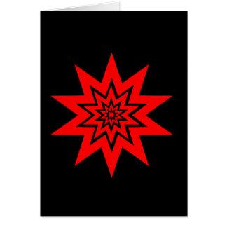 Cartão vermelho do laser Starburst