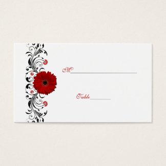 Cartão vermelho do lugar da ocasião especial da cartão de visita