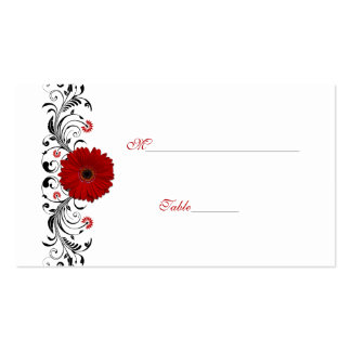 Cartão vermelho do lugar da ocasião especial da ma cartoes de visita