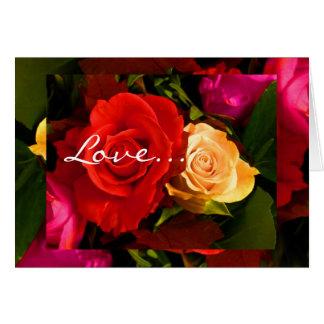 Cartão vermelho do rosa amarelo II