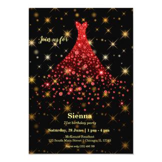 Cartão Vestido sparkling do diamante