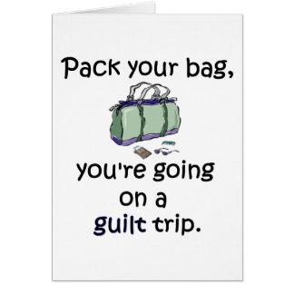 Cartão Viagem de culpa