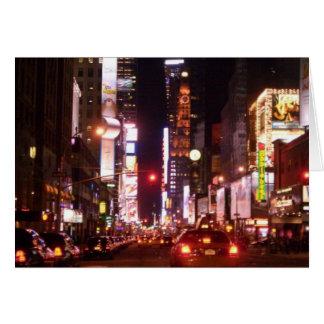 Cartão Vida noturno na cidade