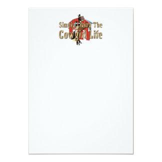 Cartão Vida simplesmente viva da vaqueira do T