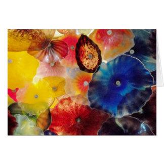 Cartão Vidro colorido