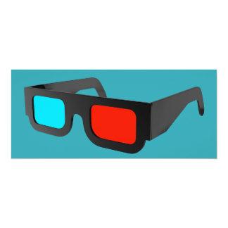 Cartão Vidros 3D retros gráficos