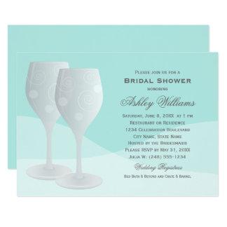 Cartão Vidros de vinho dos elogios do chá de panela | do