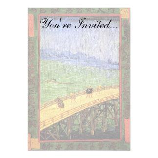 Cartão Vincent van Gogh - ponte na arte do japonês da