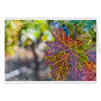 Cartão Vinha na estação do outono