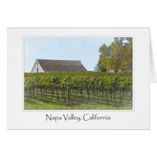 Cartão Vinhedo e celeiro de Napa Valley Califórnia