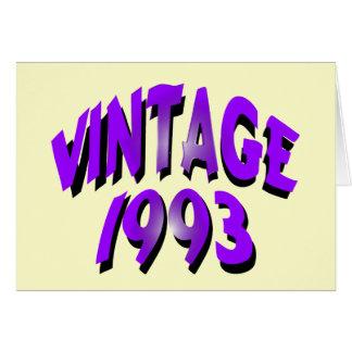 Cartão Vintage 1993