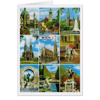Cartão Vintage Áustria, Wien, Viena, Multiview
