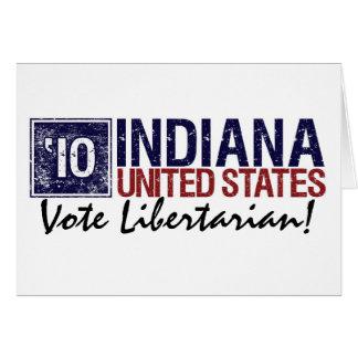 Cartão Vintage Indiana do libertário do voto em 2010 -