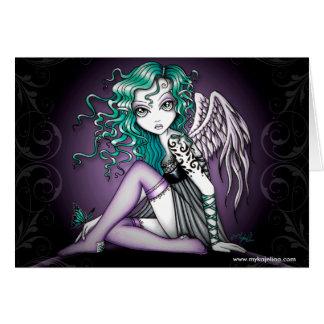 Cartão violeta do anjo do tatuagem de Malory