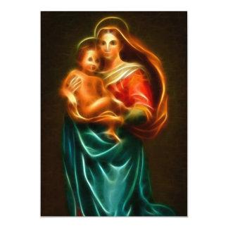 Cartão Virgem Maria e bebê Jesus