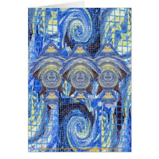 Cartão Visitantes de Van Gogh em uma noite estrelado
