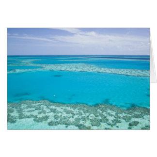Cartão Vista aérea do grande recife de coral perto