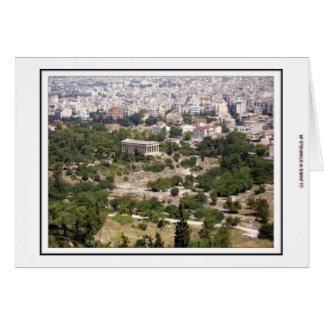 Cartão Vista da acrópole