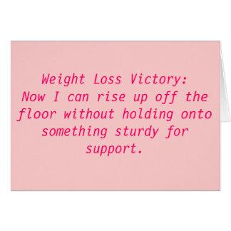 Cartão Vitória da perda de peso: Agora eu posso aumentar