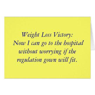 Cartão Vitória da perda de peso: Agora eu posso ir ao
