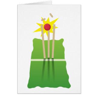 Cartão Vitória do críquete!
