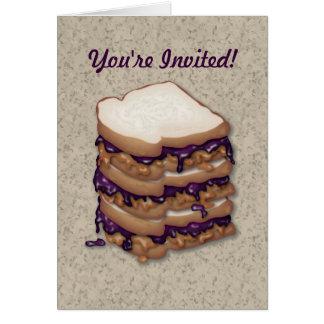 Cartão Você é sanduíches convidados da manteiga e da