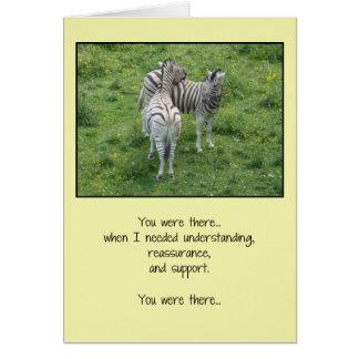 Cartão Você estava lá… amizade
