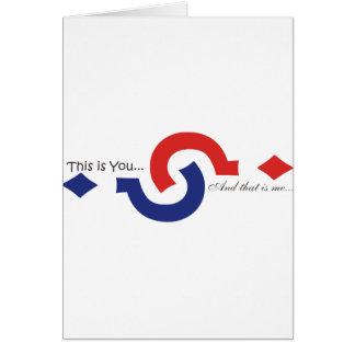 Cartão Você & mim lembrança!