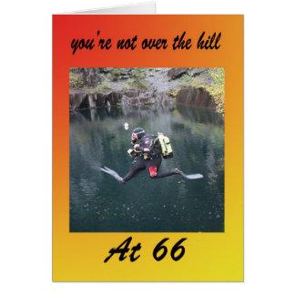 Cartão Você não está sobre o monte em 66