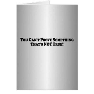 Cartão Você não pode provar algo - básico