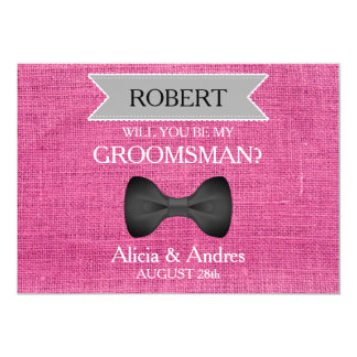 Cartão Você será meu padrinho de casamento? com arco
