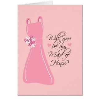 """Cartão """"Você será minha madrinha de casamento? """""""