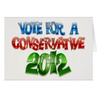 Cartão Voto para um conservador